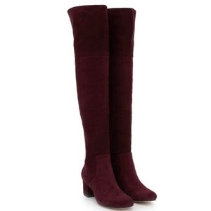 NWOT Sam Edelman Elina Suede Over The Knee Boots 7